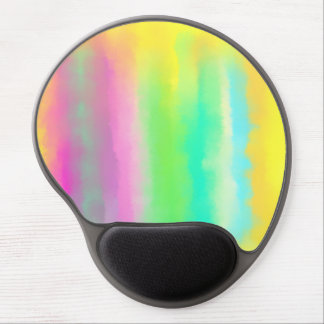 Bright Color Stripes Abstract Oil Painting Gel Mouse Pad