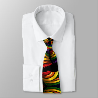 bright color swirls boss tie