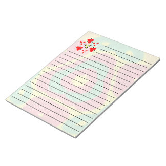 Bright colored abstract pattern art notepad