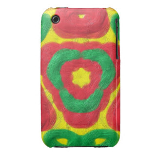 Bright colored abstract pattern Case-Mate iPhone 3 case