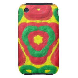 Bright colored abstract pattern iPhone 3 tough cases