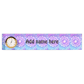 Bright colored abstract pattern name plate