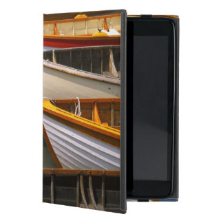Bright colored boats at the Wooden Boat Center Cover For iPad Mini