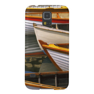 Bright colored boats at the Wooden Boat Center Galaxy S5 Case
