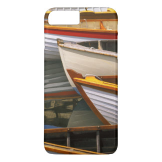 Bright colored boats at the Wooden Boat Center iPhone 8 Plus/7 Plus Case