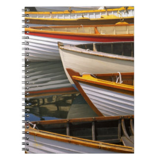 Bright colored boats at the Wooden Boat Center Notebooks
