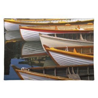 Bright colored boats at the Wooden Boat Center Placemat