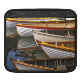 Bright colored boats at the Wooden Boat Center Sleeves For iPads