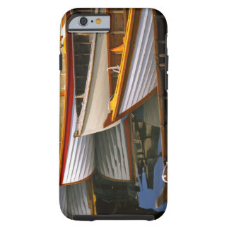 Bright colored boats at the Wooden Boat Center Tough iPhone 6 Case