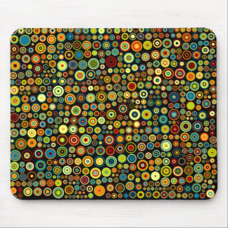 Bright Colored Dots in Trendy Retro Style Mousepad
