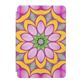Bright colored flower iPad mini cover
