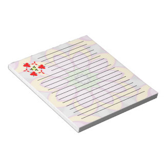Bright colored flower notepad