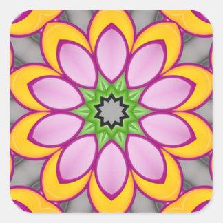 Bright colored flower sticker