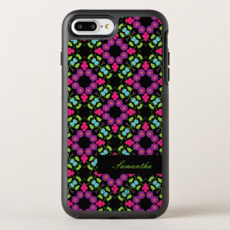 Bright Colored, Hand Drawn Flowers, OtterBox Symmetry iPhone 8 Plus/7 Plus Case