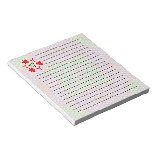 Bright colored mosaic tile notepad