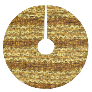 Bright colored pattern brushed polyester tree skirt