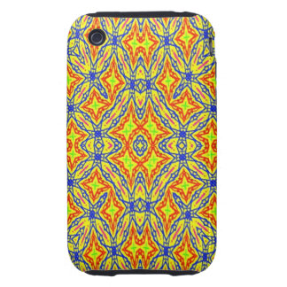 Bright colored pattern iPhone 3 tough covers