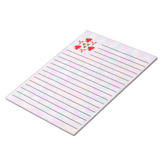 Bright colored pattern notepad
