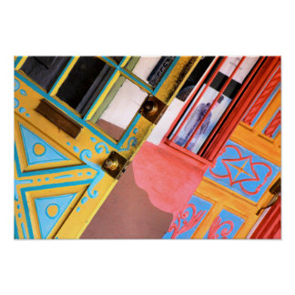 Bright Colored Southwestern Doors Poster