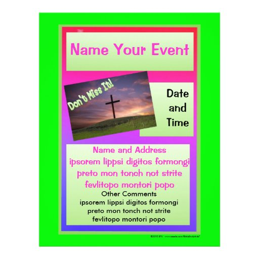 Bright Colored Special Event Flyer
