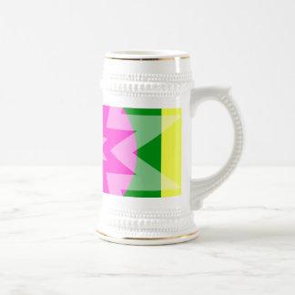 Bright colored stars mugs