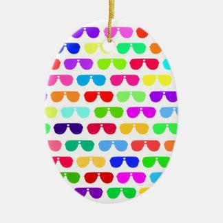 Bright Colored Summer Sunglasses Christmas Ornament