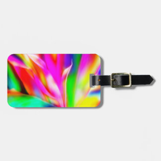 Bright Colorful Abstract Luggage Tag
