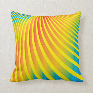 Bright Colorful Abstract Stripes Throw Pillow