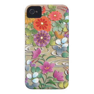 Bright colorful autumn flowers iPhone 4 case