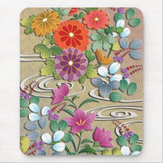 Bright colorful autumn flowers mouse mat