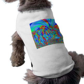 Bright Colorful blue abstract art Pet Clothes