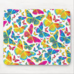 Bright colorful butterflies mousepad