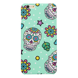Bright Colorful Candy Sugar Skull iPhone 6 Plus Case