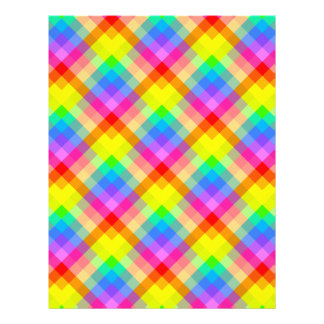 Bright Colorful Check Pattern. Custom Flyer