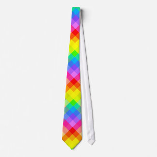 Bright Colorful Check Pattern. Tie