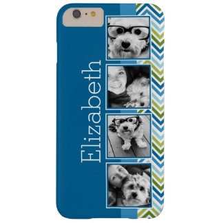 Bright Colorful Chevrons Instagram Photo Collage Barely There iPhone 6 Plus Case