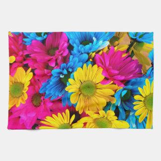 Bright Colorful Daisies Tea Towel