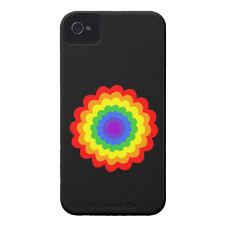 Bright colorful flower in rainbow colors. iPhone 4 Case-Mate case