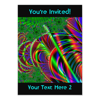Bright Colorful Fractal Art Design. Card