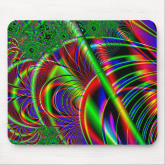 Bright Colorful Fractal Art Design. Mouse Mat