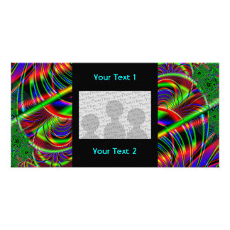 Bright Colorful Fractal Art Design. Photo Card