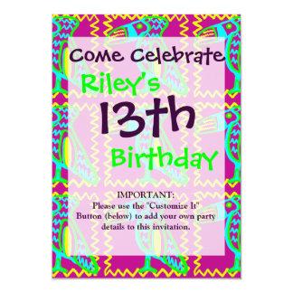 "Bright Colorful Fun Toucan Tropical Bird Pattern 5"" X 7"" Invitation Card"