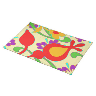Bright  Colorful Funky Abstract Placemat