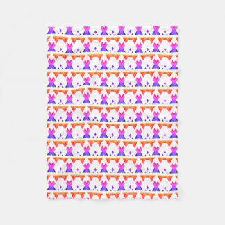 Bright Colorful Geometric Gradient Pattern Fleece Blanket