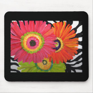 Bright & Colorful Gerbera Daisies Mouse Mat