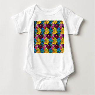 Bright Colorful Hibiscus Flowers Baby Bodysuit