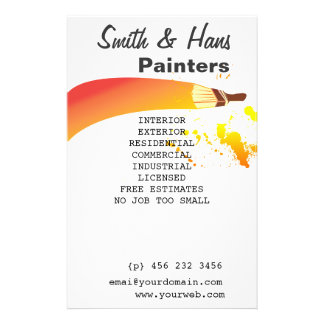 Bright Colorful House Painter Artist Flyer