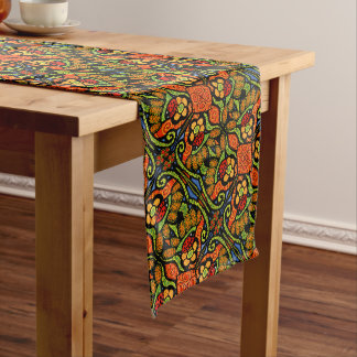 Bright Colorful Ladybug Pattern Medium Table Runner