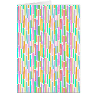 Bright colorful mini stripes fun pattern painting greeting cards