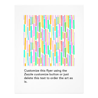 Bright colorful mini stripes fun pattern painting personalized flyer